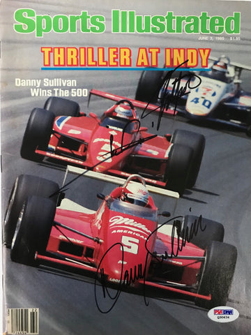 Mario Andretti Emerson Fitapaldi Danny Sullivan Signed Sports Illustrated June 5 1985 (PSA)