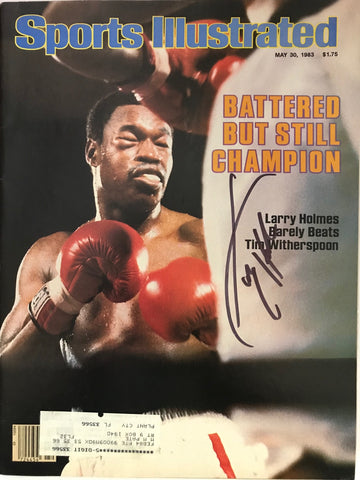 Larry Holmes Signed Sports Illustrated Magazine May 30 1983