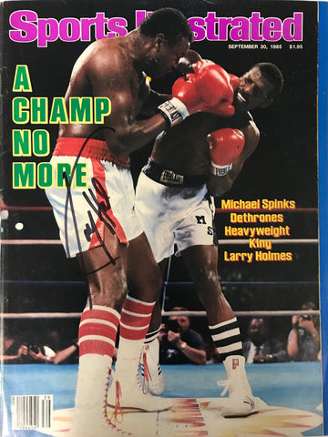 Larry Holmes Signed Sports Illustrated Magazine September 30 1985