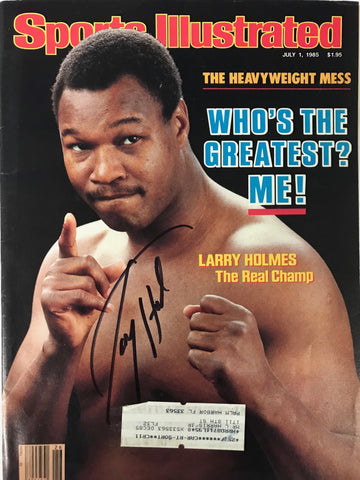 Larry Holmes Signed Sports Illustrated July 1 1985