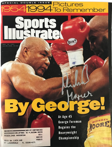 Michael Moorer Signed Sports Illustrated November 14 1994