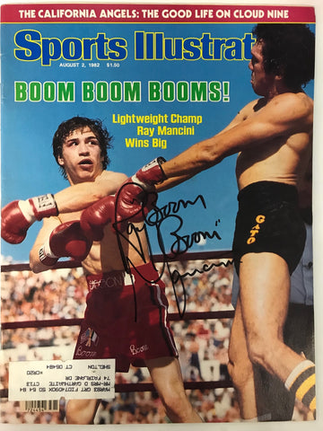 Ray Boom Boom Mancini Signed Sports Illustrated August 2 1982