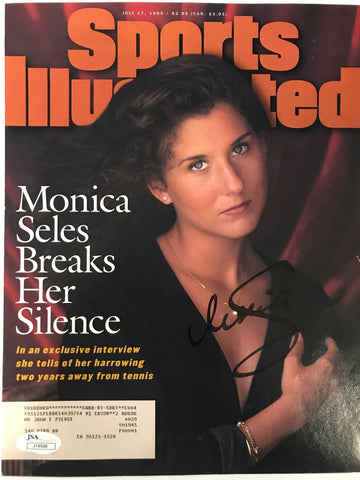 Monica Seles Signed Sports Illustrated Magazine Cover July 17 1995 (JSA)