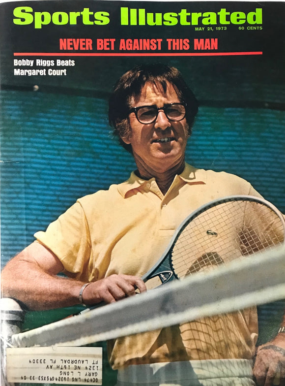 Bobby Riggs Unsigned Sports Illustrated Magazine May 21 1973
