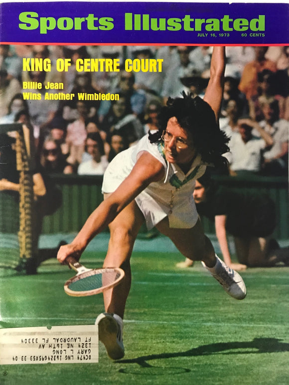 Billie Jean King Unsigned Sports Illustrated Magazine July 16 1973