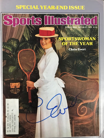Chris Evert Signed Sports Illustrated December 20 1976