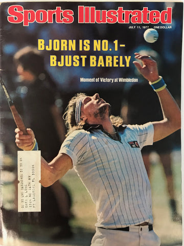 Bjorn Borg Unsigned Sports Illustrated Magazine July 11 1977