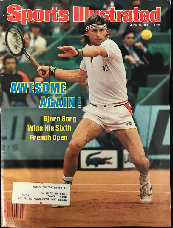 Bjorn Borg Unsigned Sports Illustrated Magazine June 15 1981