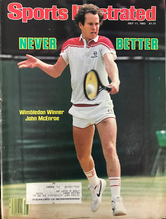 John McEnroe Unsigned Sports Illustrated Magazine July 11 1983