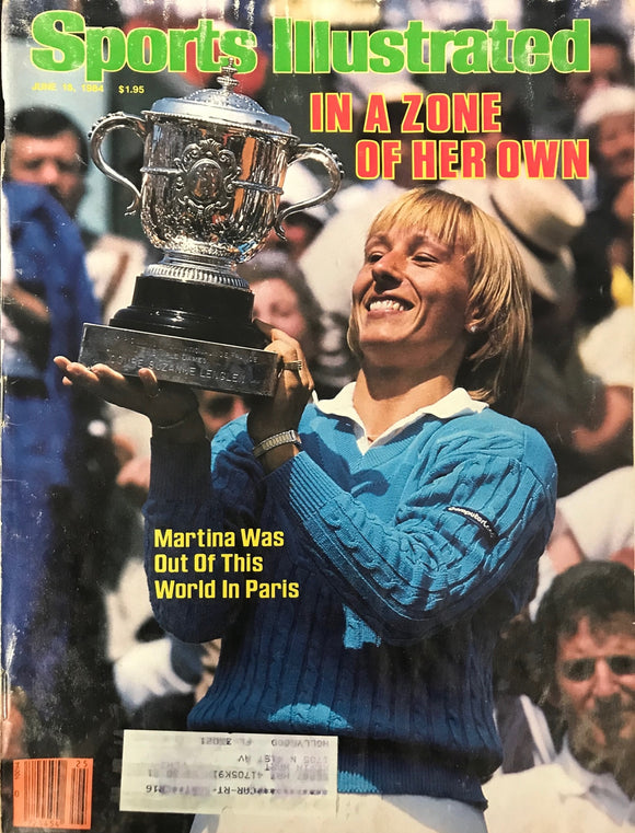 Martina Navratilova Unsigned Sports Illustrated Magazine June 18 1984