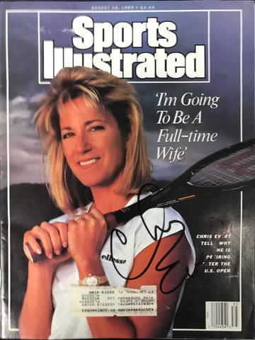 Chris Evert Unsigned Sports Illustrated August 28 1989