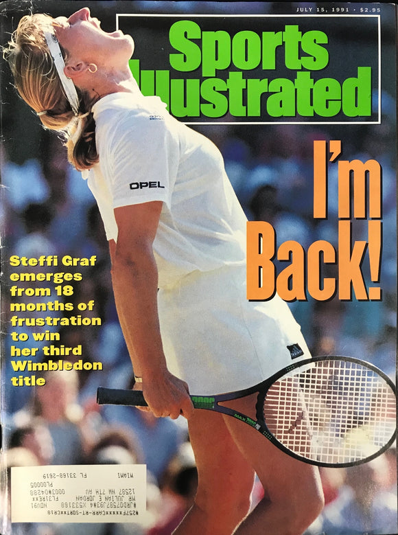 Steffi Graf Unsigned Sports Illustrated Magazine July 15 1991