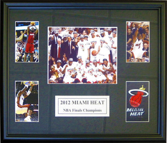 2011-12 Miami Heat Unsigned Framed 16x20 Collage of Photos
