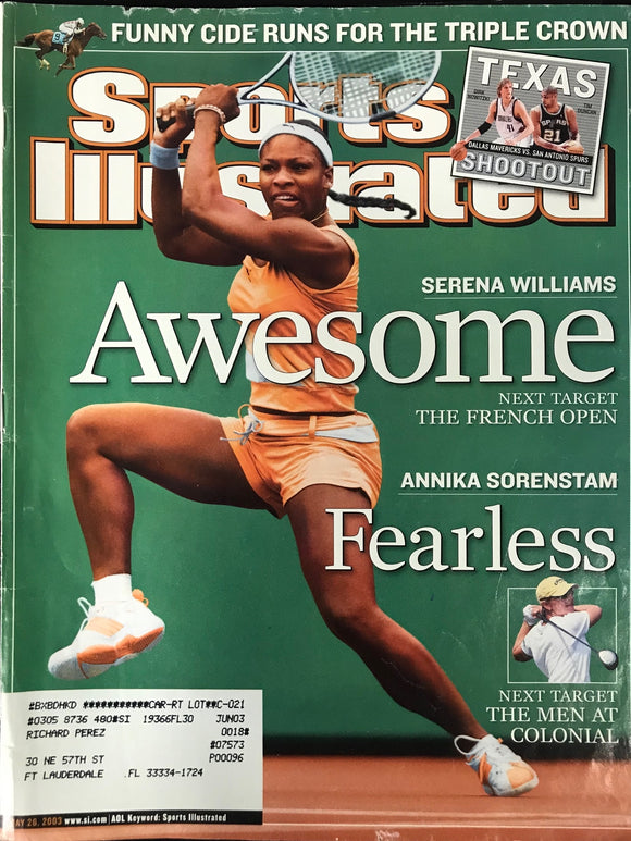 Serena Williams Unsigned Sports Illustrated Magazine May 26 2003