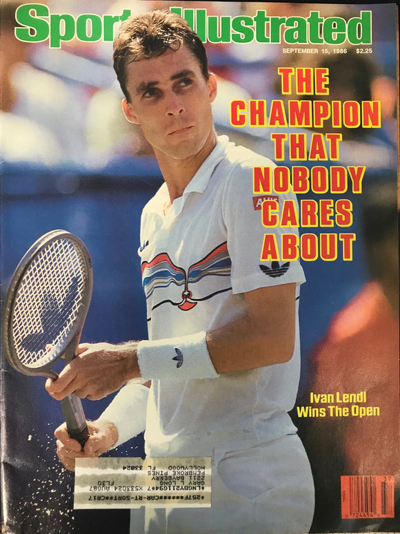 Ivan Lendl Unsigned Sports Illustrated Magazine September 15 1986