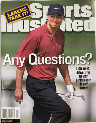 Tiger Woods Unsigned Sports Illustrated Magazine June 26 2000