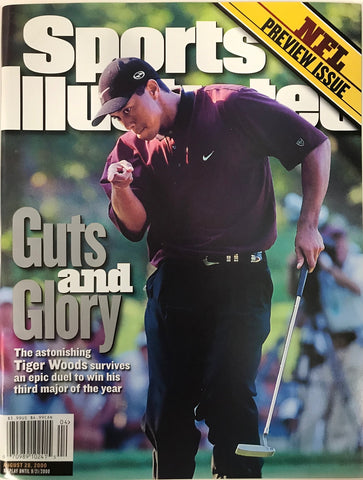 Tiger Woods Unsigned Sports Illustrated Magazine August 28 2000