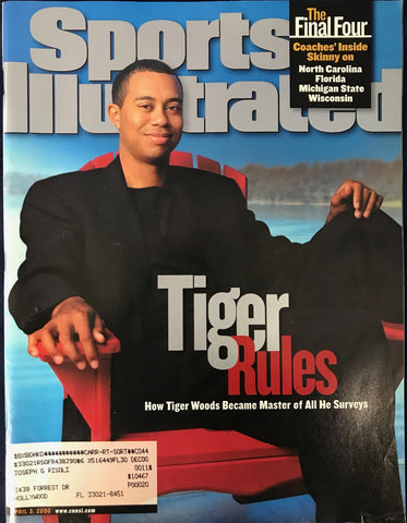 Tiger Woods Unsigned Sports Illustrated Magazine April 3 2000