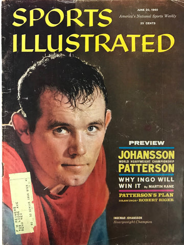 Ingemar Johansson Unsigned Sports Illustrated June 20 1960
