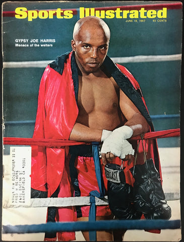 Gypsy Joe Harris Unsigned Sports Illustrated June 19 1967