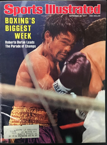 Roberto Duran Unsigned Sports Illustrated September 26 1977