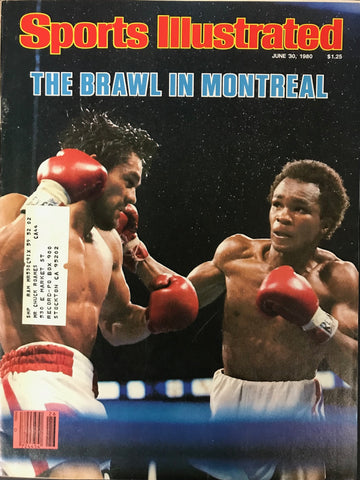 Sugar Ray Leonard & Roberto Duran Unsigned Sports Illustrated June 30 1980