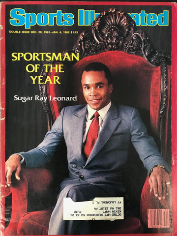 Sugar Ray Leonard Unsigned Sports Illustrated December 28 1981