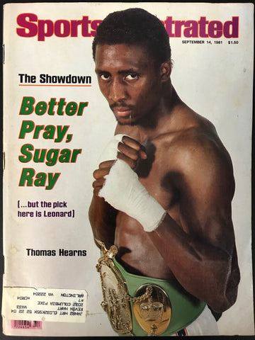 Thomas Hearns Unsigned Sports Illustrated September 14 1981