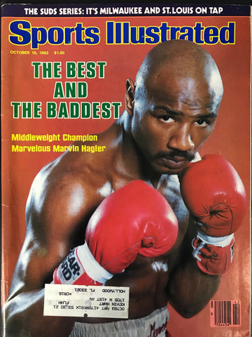 Marvin Hagler Unsigned Sports Illustrated October 18 1982