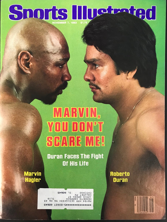 Marvin Hagler & Roberto Duran Unsigned Sports Illustrated November 7 1983
