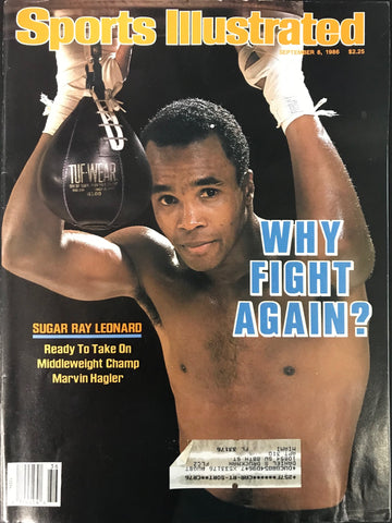 Sugar Ray Leonard Unsigned Sports Illustrated Magazine September 8 1986