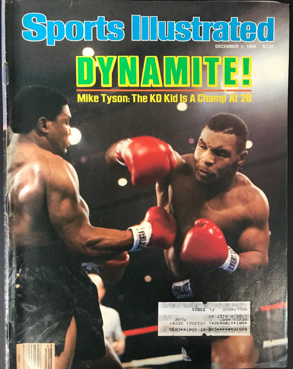Mike Tyson & Trevor Berbick Unsigned Sports Illustrated December 1 1986