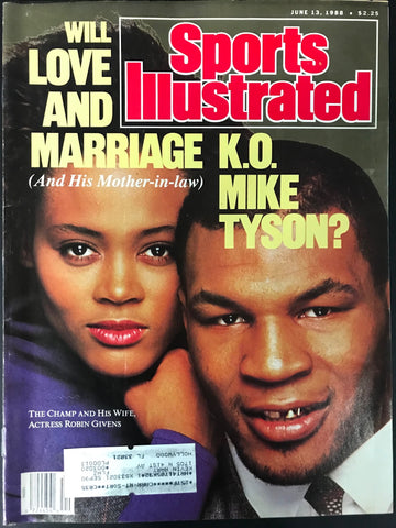 Mike Tyson Unsigned Sports Illustrated June 13 1988