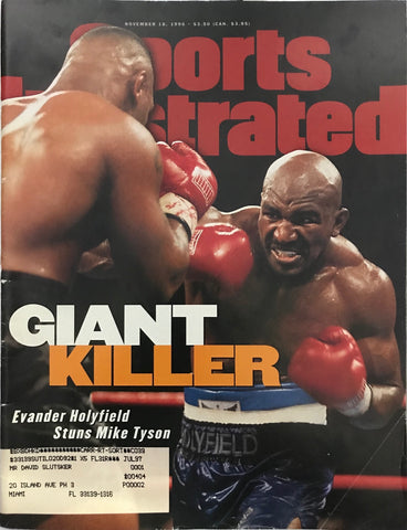 Mike Tyson & Evander Holyfield Unsigned Sports Illustrated November 18 1996