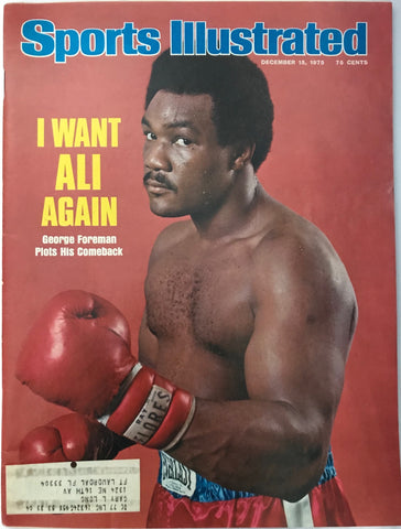 George Foreman Unsigned Sports Illustrated December 15 1975