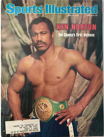 Ken Norton Unsigned Sports Illustrated Magazine June 12 1978