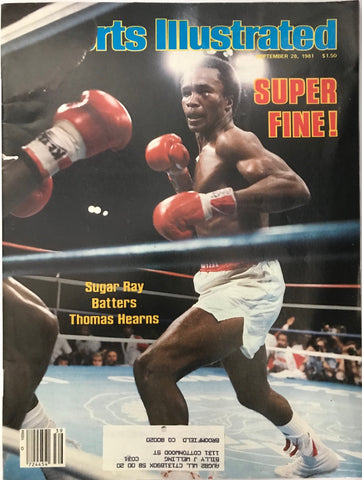 Sugar Ray Leonard Unsigned Sports Illustrated September 28 1981