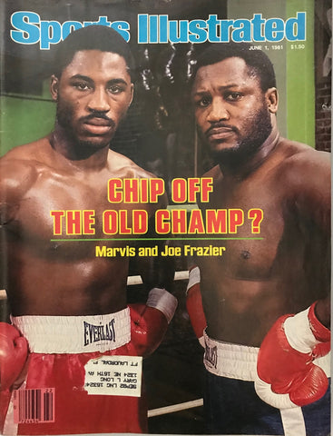 Marvis & Joe Frazier Unsigned Sports Illustrated June 1 1981