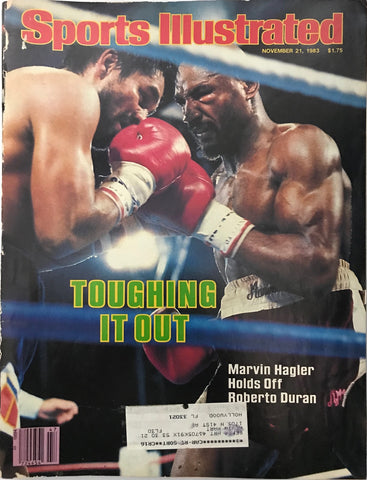Marvin Hagler & Roberto Duran Unsigned Sports Illustrated November 21 1983
