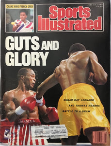 Sugar Ray Leonard & Thomas Hearns Unsigned Sports Illustrated June 19 1989