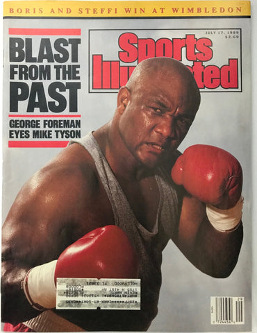 George Foreman Unsigned Sports Illustrated July 17 1989