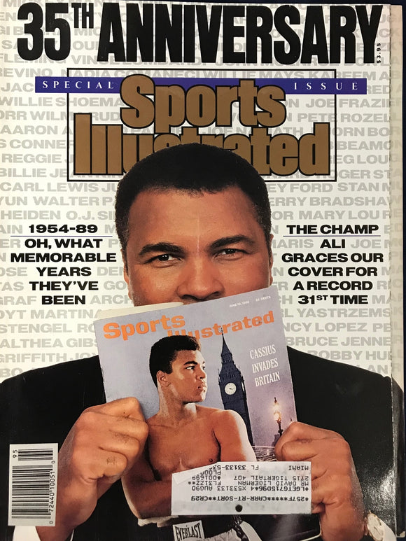 Muhammad Ali Unsigned Sports Illustrated November 15 1989