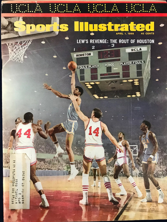 Lew Alcindor Unsigned Sports Illustrated April 1 1968