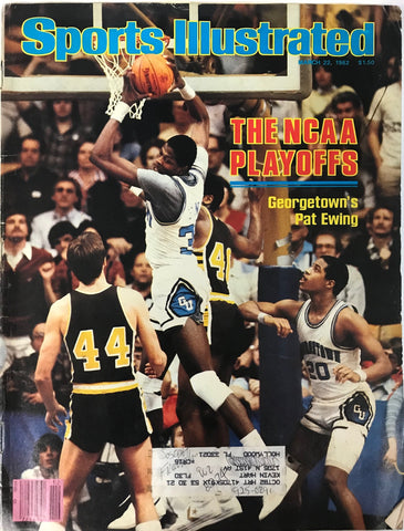 Patrick Ewing Unsigned Sports Illustrated Magazine March 22 1982