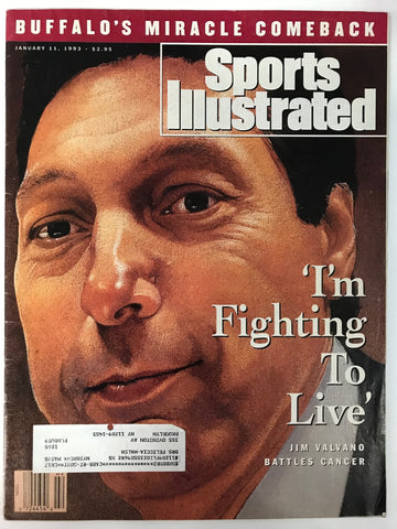 Jim Valvano Unsigned Sports Illustrated January 11 1993
