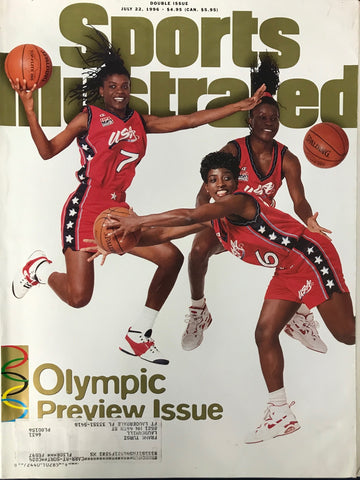 Sheryl Swoopes Katrina Mcclain Ruthie Bolton Unsigned Sports Illustrated Magazine July 22 1996