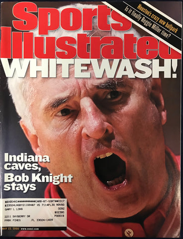 Bobby Knight Unsigned Sports Illustrated May 22 2000