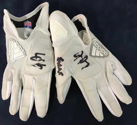 Jay Ajayi Autographed Game Used Philadelphia Eagles Gloves