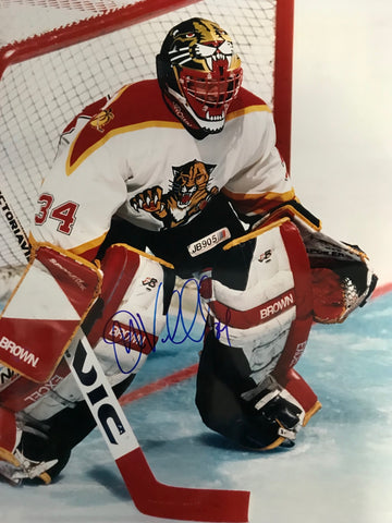 John Vanbiesbrouck Signed Florida Panthers 16x20 Photo