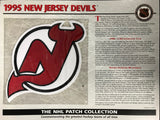 1995 New Jersey Devils Official Patch on Team History Card